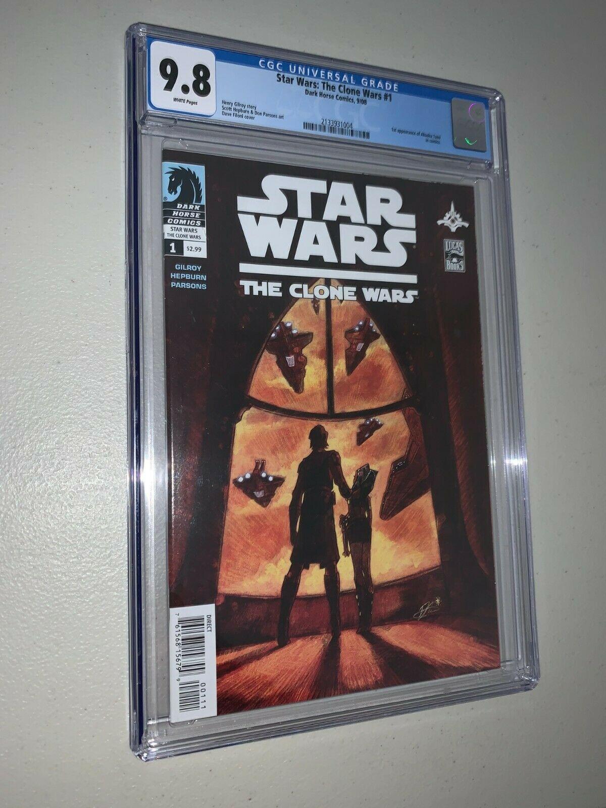 Star Wars Clone Wars 1 CGC 98 1st Appearance Ahsoka Tano
