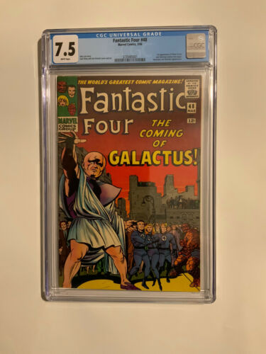 FANTASTIC FOUR 48 FIRST SURFER CGC 75 WHITE PAGES