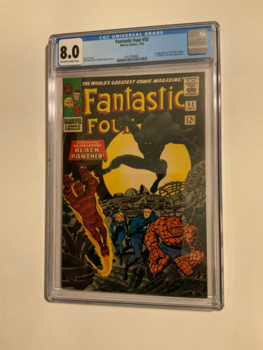 FANTASTIC FOUR 52 FIRST SURFER CGC 80 OFF WHITE TO WHITE PAGES