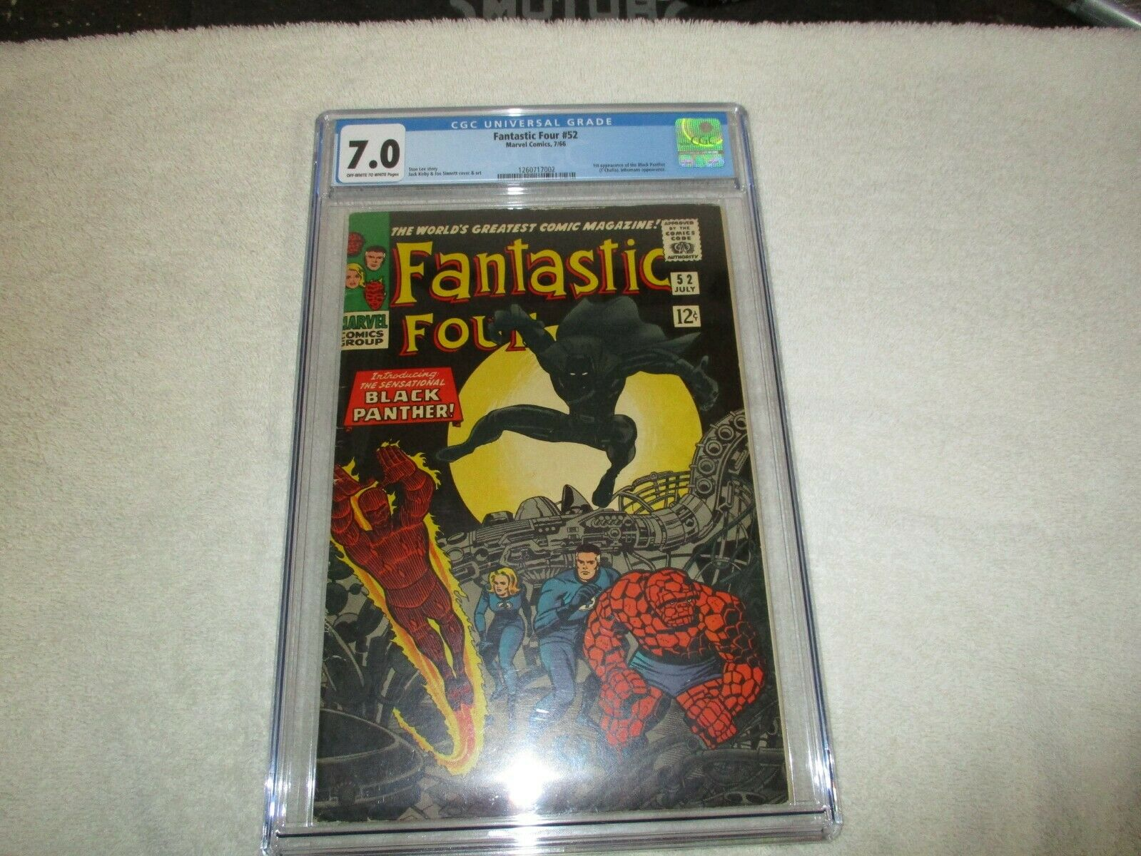 Fantastic Four 52 CGC 70 Jul 1966 Marvel first appearance of Black Panther