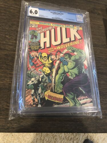 INCREDIBLE HULK 181 CGC 60 Blue label 1ST APPEARANCE WOLVERINE OW PAGES