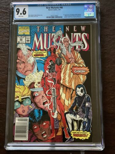 New Mutants 98 CGC 96 1st Deadpool Gideon and Domino