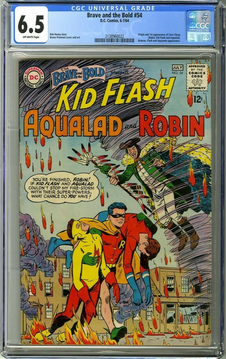 Brave and the Bold 54 1964 CGC 65 OffWhite Pg 1st appearance of Teen Titans
