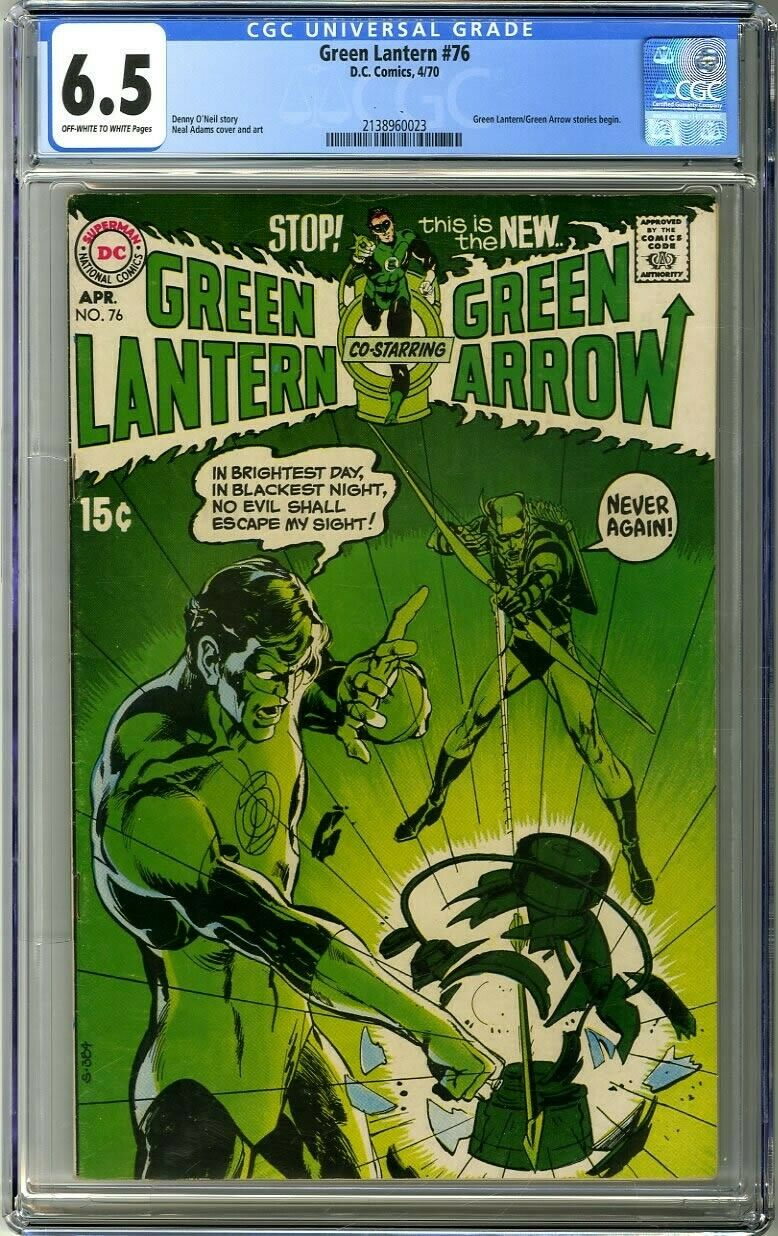 Green Lantern 76 1970 CGC 65 OWWhite Green LanternGreen Arrow stories begin