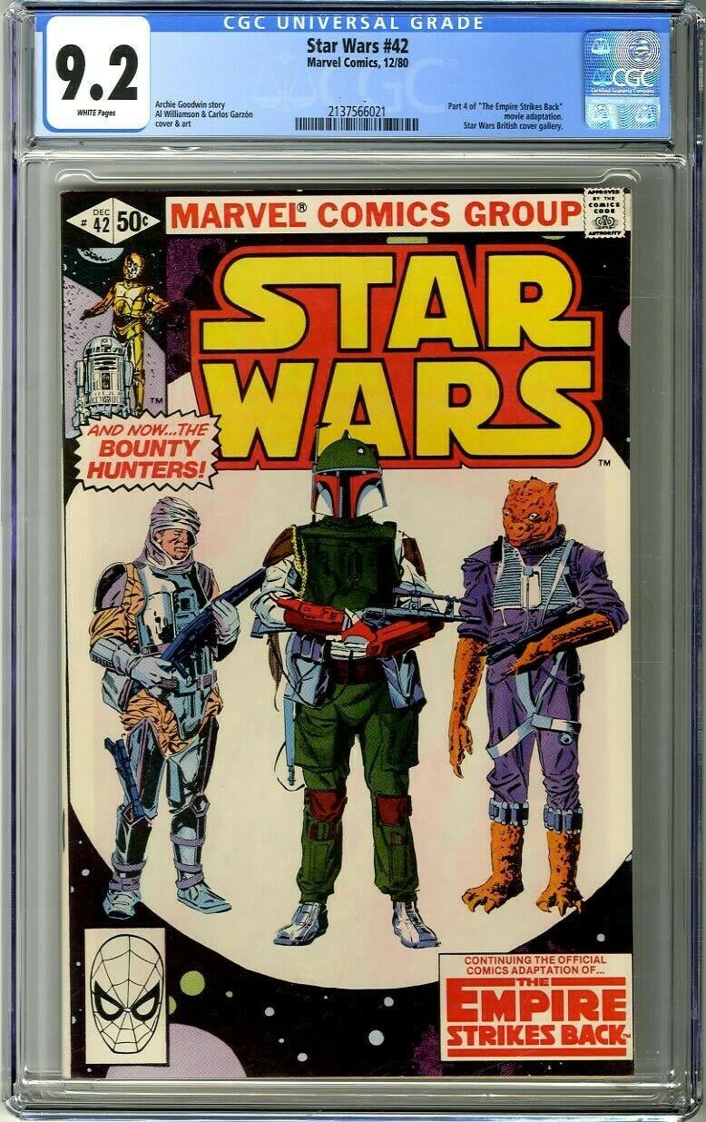 Star Wars 42 1980 CGC 92 Empire Strikes Back 1st appearance Boba Fett Yoda