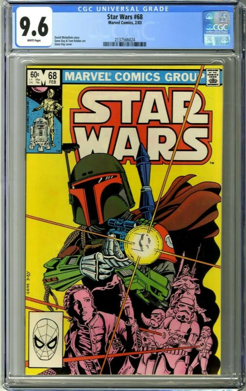 Star Wars 68 1983 CGC 96 White Pages Boba Fett cover
