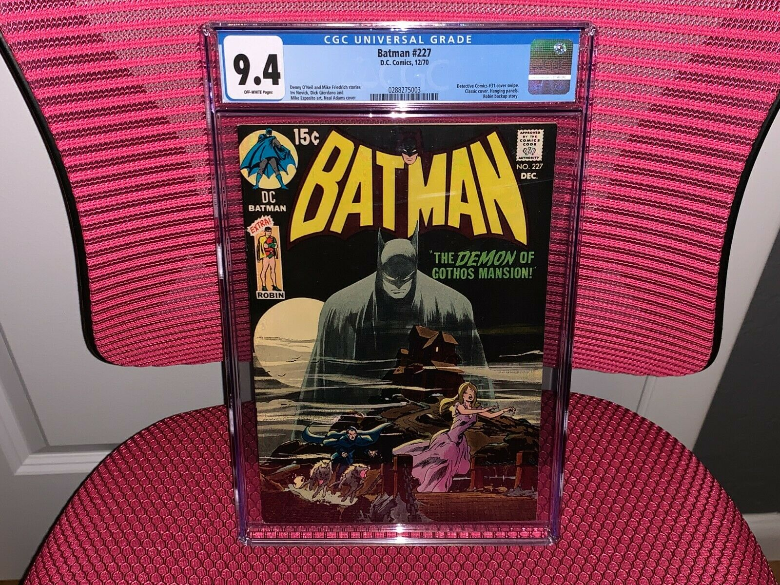 Batman 227 CGC 94 Classic Iconic Batman Cover by Neal Adams