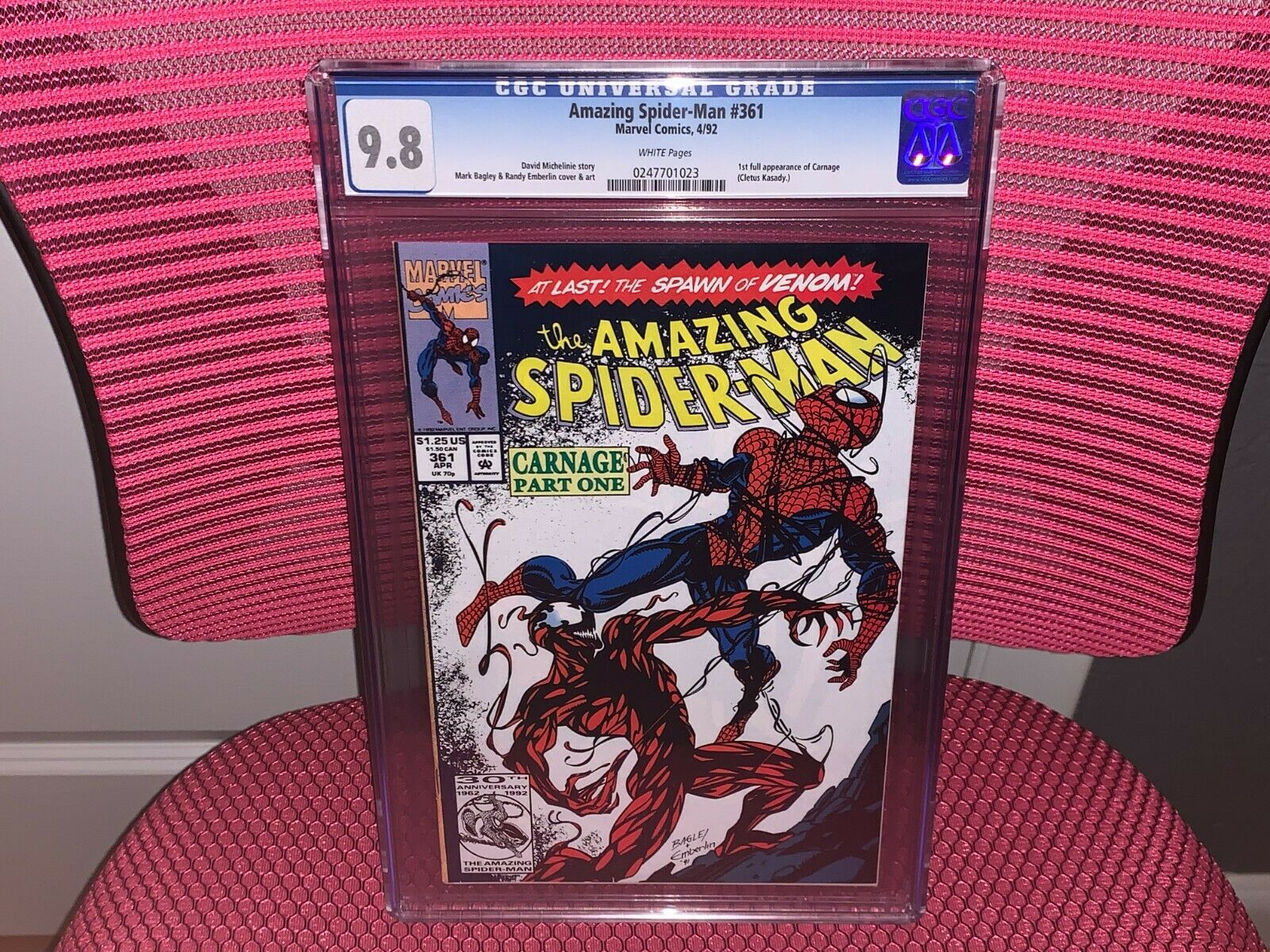 Amazing SpiderMan 361 CGC 98 1st App Carnage