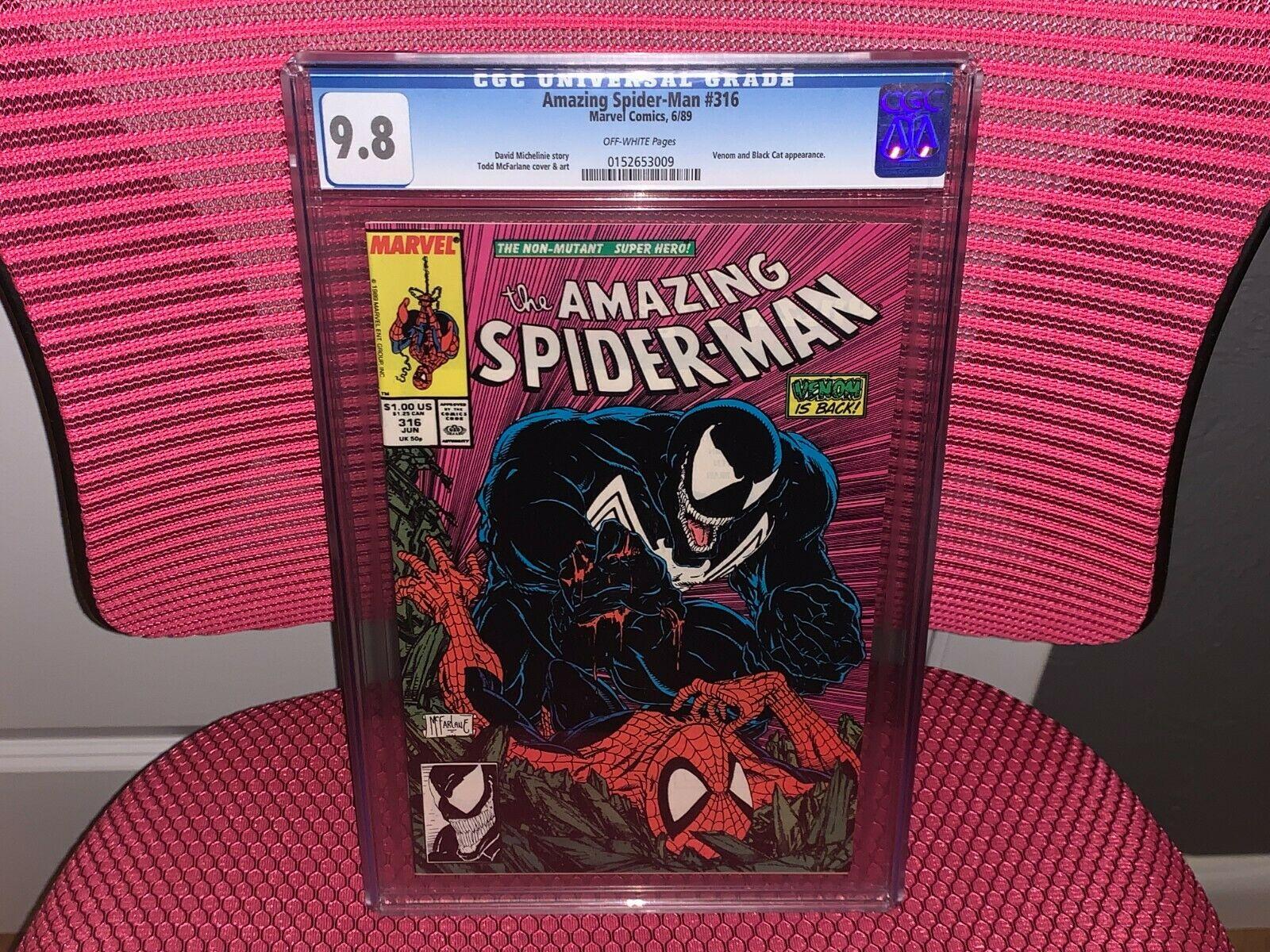 Amazing SpiderMan 316 CGC 98 Venom and Black Cat App