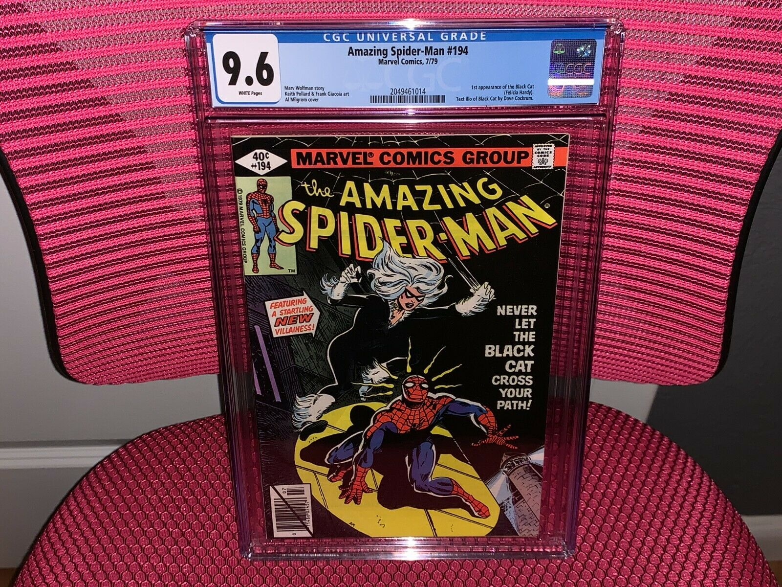 Amazing SpiderMan 194 CGC 96 1st App Black Cat
