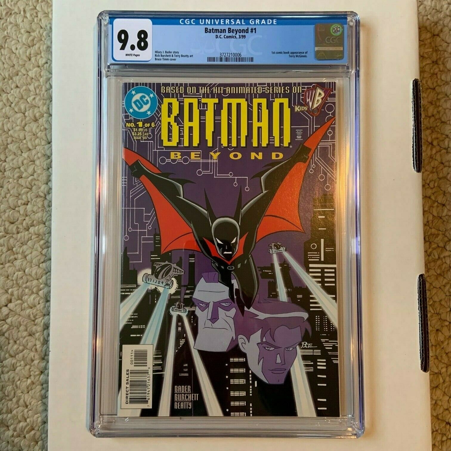 Batman Beyond 1 CGC 98 white pages 1st Terry McGinnis