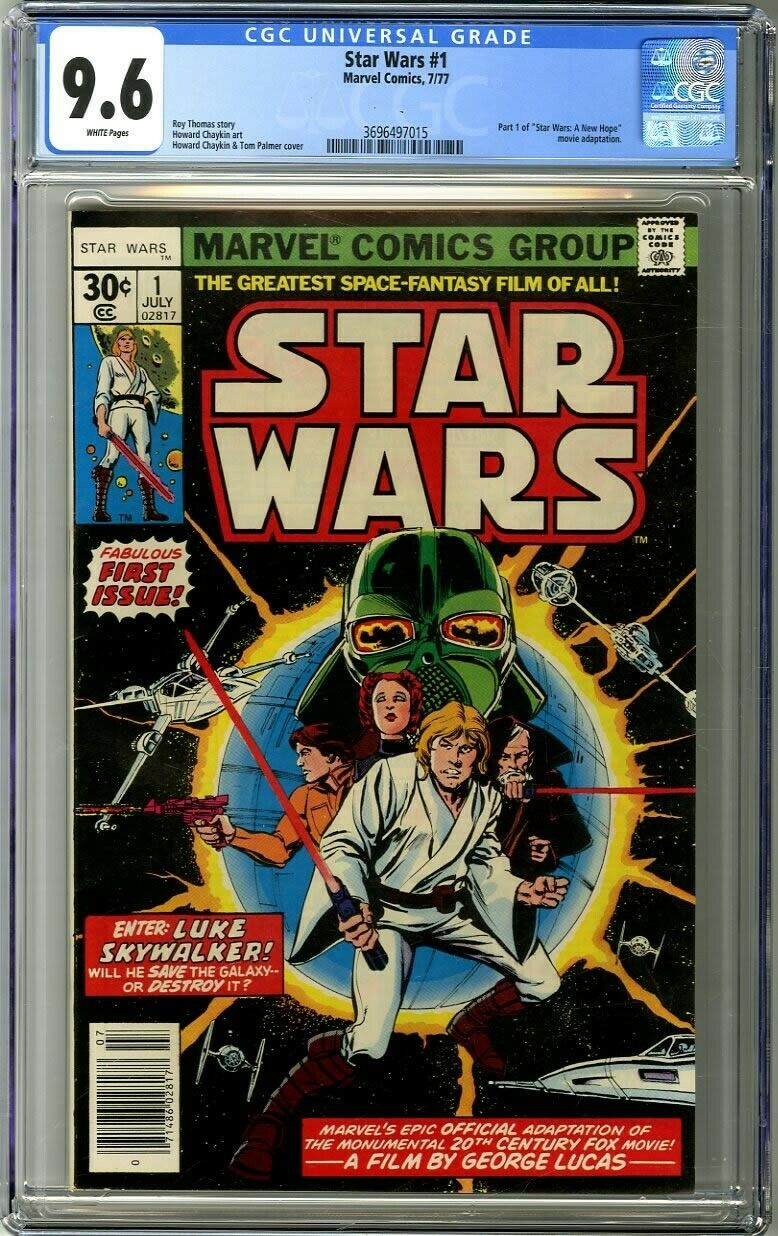 Star Wars 1 1977 CGC 96 White Pages