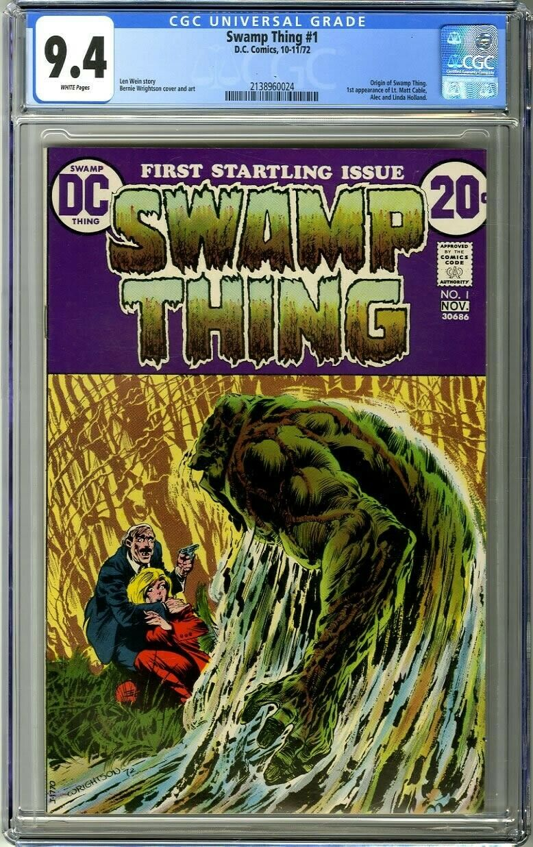 Swamp Thing 1 1972 CGC 94 White Pages Origin of Swamp Thing