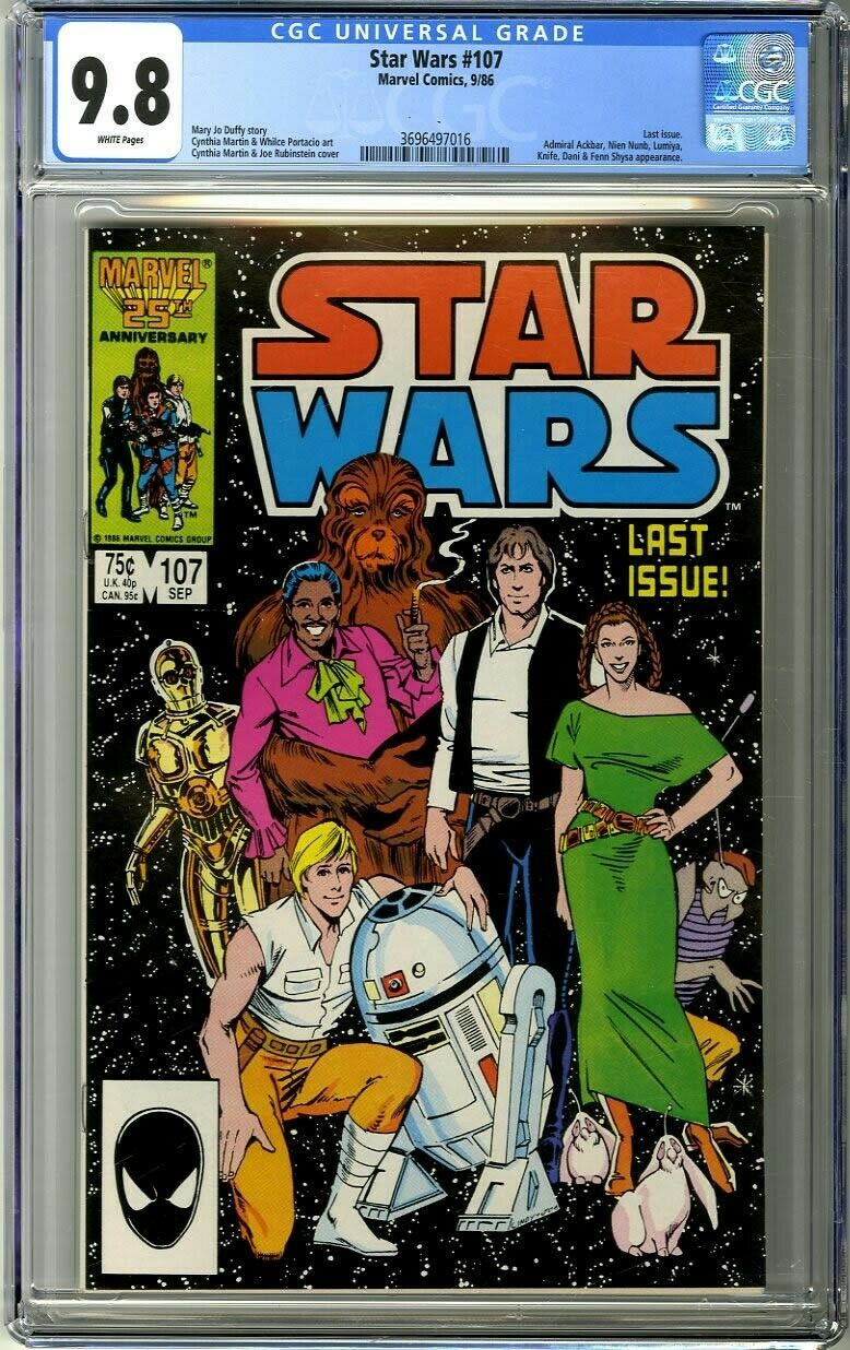 Star Wars 107 1986 CGC 98 White Pages Last issue