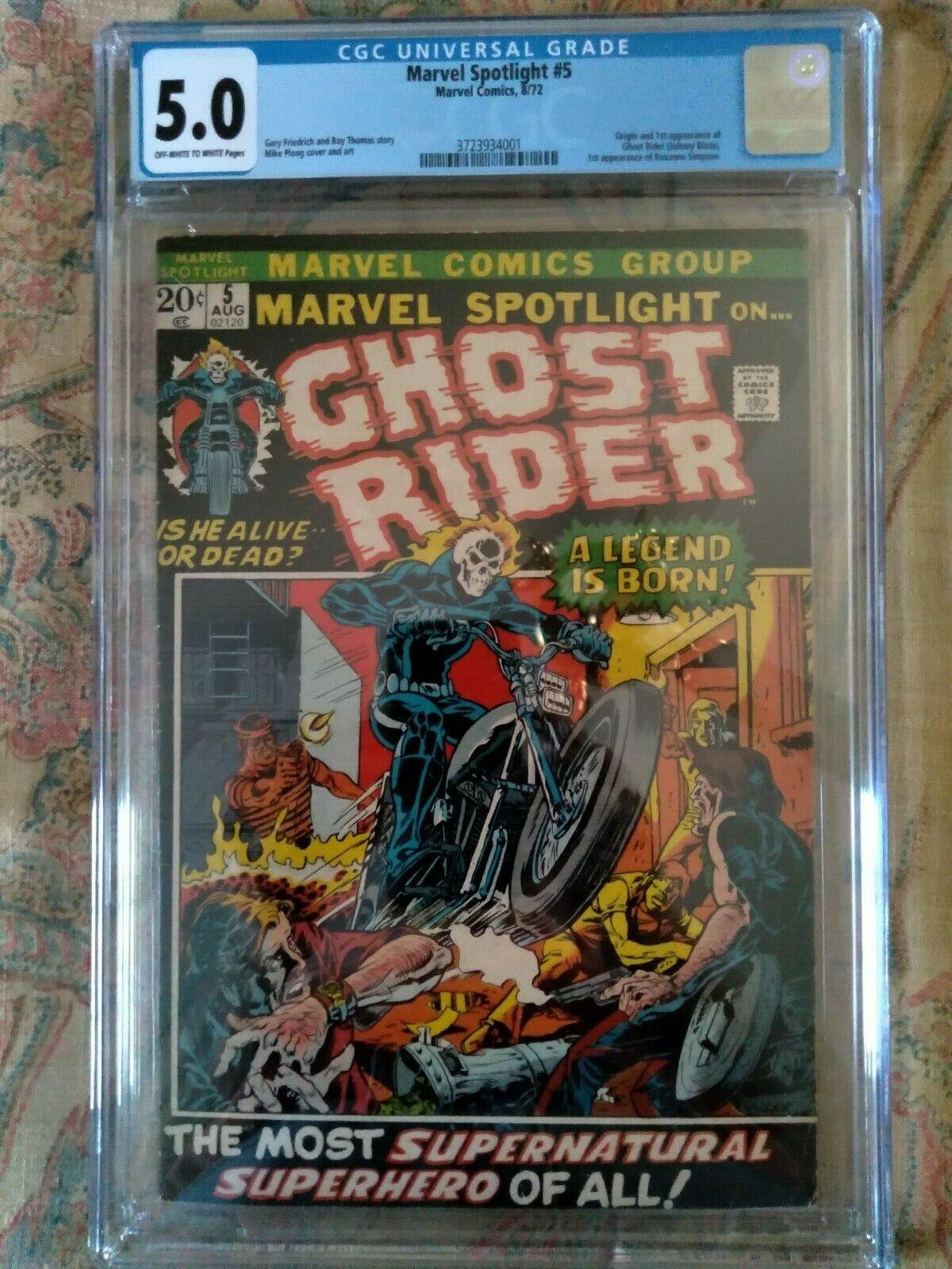 Marvel Spotlight 5 First Ghost Rider CGC 50