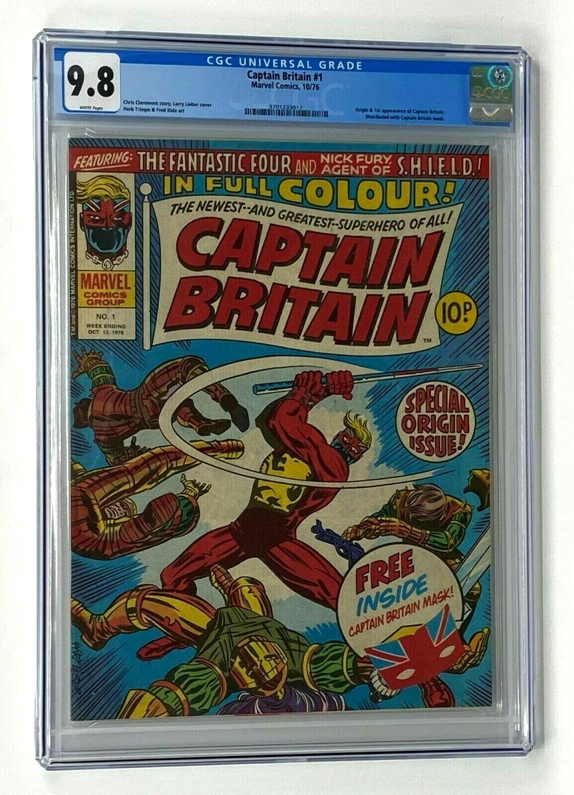 CAPTAIN BRITAIN 1 Marvel Comics 1976 CGC 98 Origin  1st Appearance