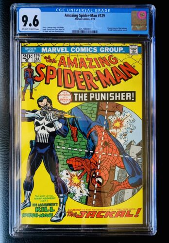 Amazing SpiderMan 129 CGC 96 1st App The Punisher  Jackal SCARCE