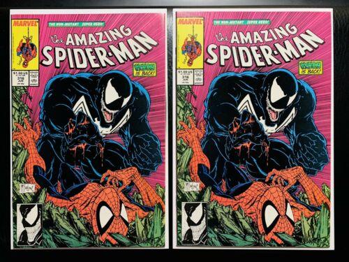 Amazing SpiderMan 316  1st Venom Cover MTUnread X2 Lot CGC THEM FLAWLESS